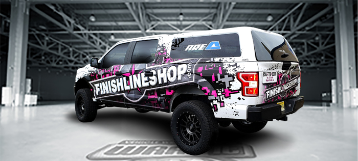 A truck that received vehicle wrap services near Mt. Laurel, NJ